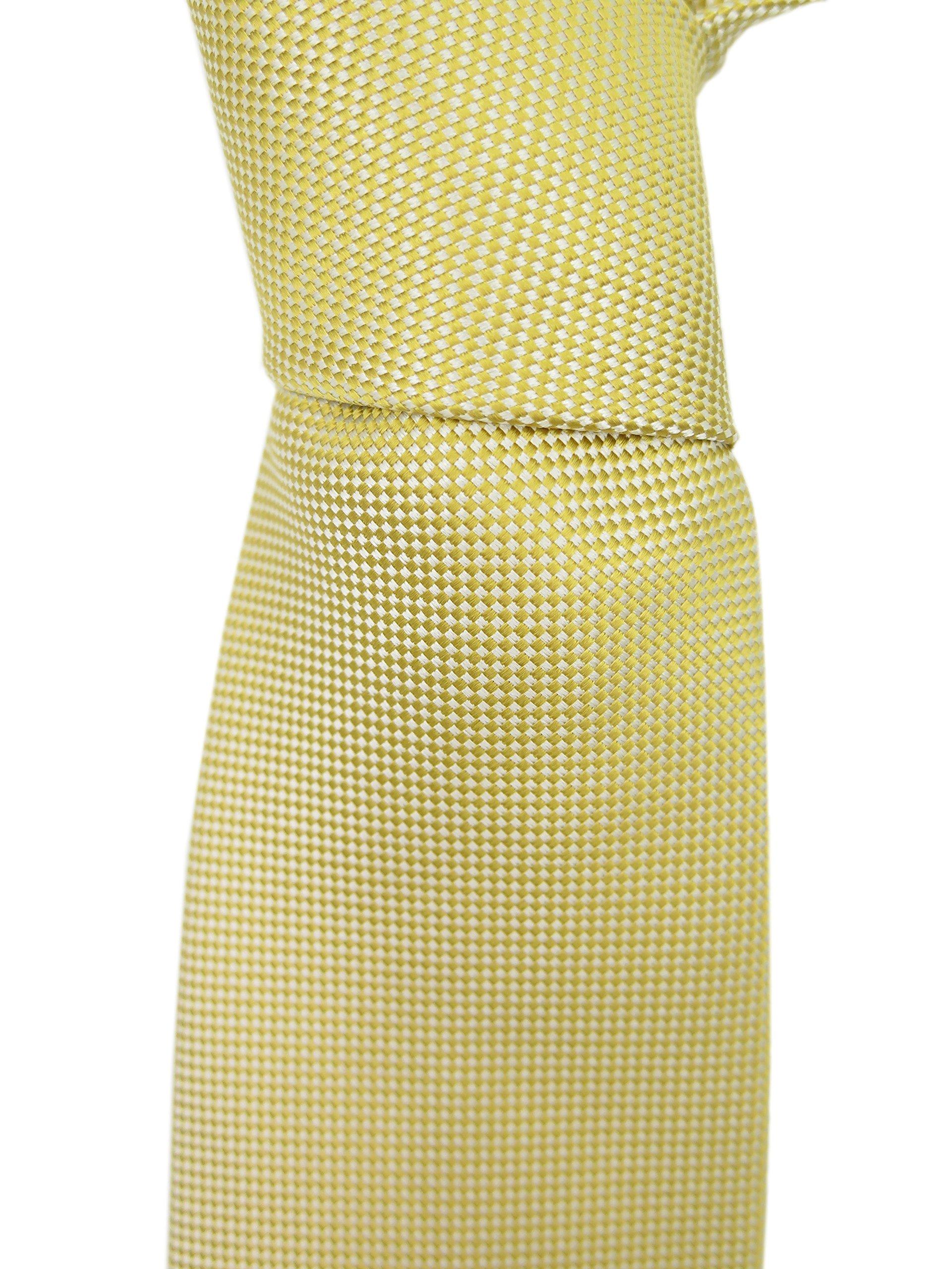 Ermenegildo Zegna Men's Light Gold Silk Neck Tie