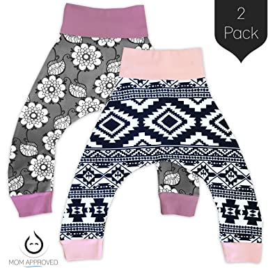 2879cc1806a81 Amazon.com: Kaydee Baby Harem Pants (Floral Aztec) - Set of 2 (Ages ...