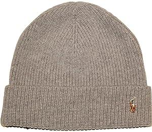 029ce40b8da Amazon.com  Polo Signature Cuff Wool Beanie Mens Style 604790 ...