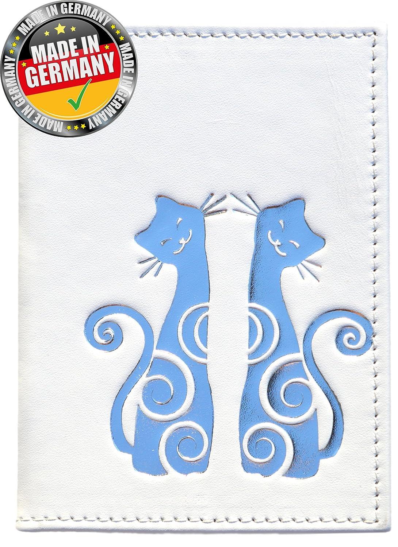 OPTEXX® RFID Reisepass Schutzhülle Baltica Katze Weiß-Silber TÜV geprüft und zertifiziert Baltica blanc-argent Kitty