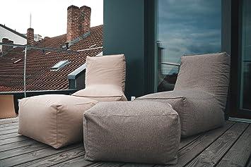RELAXFAIR Sitzsack XXL Innensack Innen Hülle Abnehmbarer Bezug / Sessel Mit  Lehne Und Hocker /
