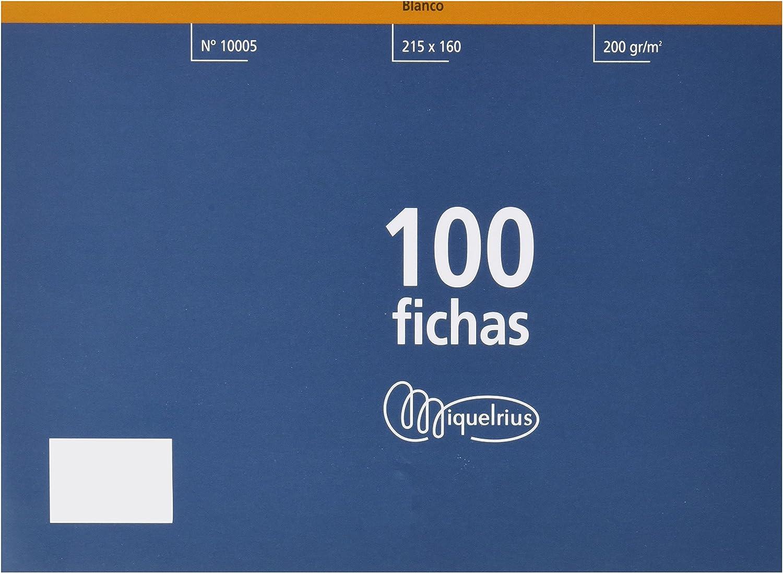 Miquel Rius Número 5 - Fichas lisas, 100 unidades, 160 x 215 mm