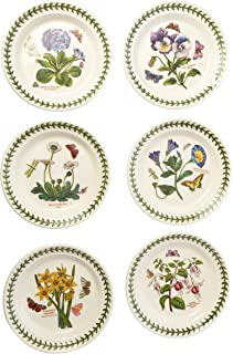 Portmeirion Botanic Garden Bread and Butter Plate Set of 6 Assorted Motifs  sc 1 st  Amazon.com & Amazon.com | Portmeirion Exotic Botanic Garden Dinner Plate Set with ...