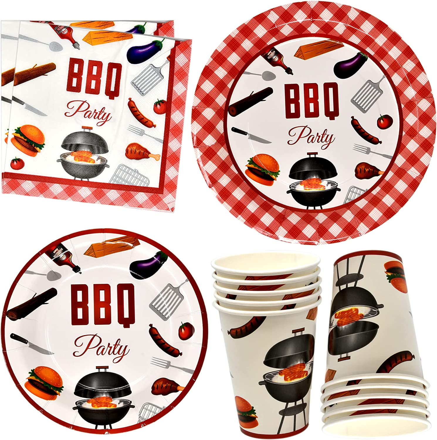 BBQ Picnic Party Supplies Tableware Set 24 9
