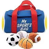 Etna My Sports Bag with Sound Playset - Stuffed Plush Basketball, Baseball, Soccer Ball and Football, Soft & Cute Toys…
