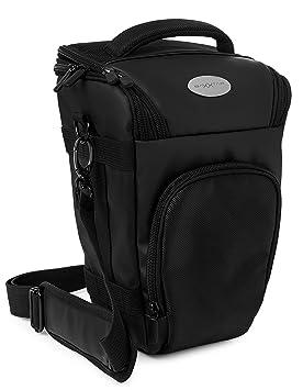 Pro Novo II (L) SLR - Funda para cámara Reflex - Color Negro con la Correa de Hombro, Correa de Cintura Adicional y trabilla para el cinturón