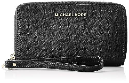 4a606265fa02 Michael Kors 32H4GTVE9L Women s Jet Set Wallet Black (Black)  Amazon.co.uk   Shoes   Bags