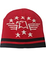 Outer Rebel Red Military Eagle Beanie