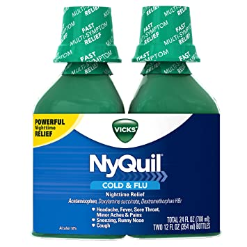 amazon com vick nyquil cough cold and flu nighttime relief