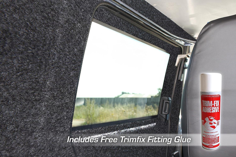 5m x 2m Includes 5 x Trimfix Glue Choose from 30 Sizes of Silver Coloured Super Stretch Van Lining Carpet