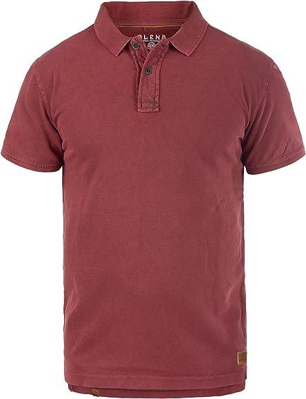 BLEND Camper Camiseta Polo De Manga Corta para Hombre con Cuello De Polo De 100% algodón, tamaño:S, Color:Rust Red (73830): Amazon.es: Ropa y accesorios