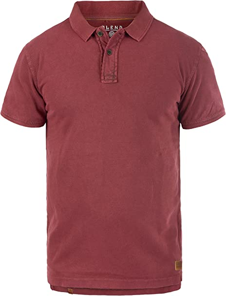 TALLA S. BLEND Camper Camiseta Polo De Manga Corta para Hombre con Cuello De Polo De 100% algodón