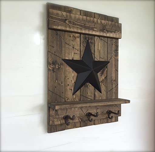 Fantastic Amazon.com: Coat Rack Wall Mounted, Distressed Wood Wall Shelf  QS04
