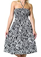 One-size-fits-most Tube Dress/Coverup with Animal Print