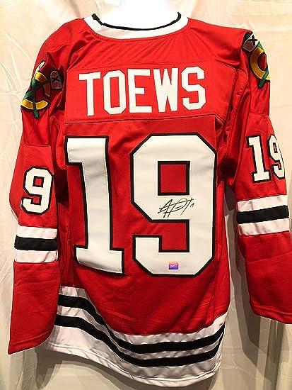 9a3a52aca74 Jonathan Toews Chicago Blackhawks Signed Autograph Custom Red Jersey  Frameworth Hologram Certified