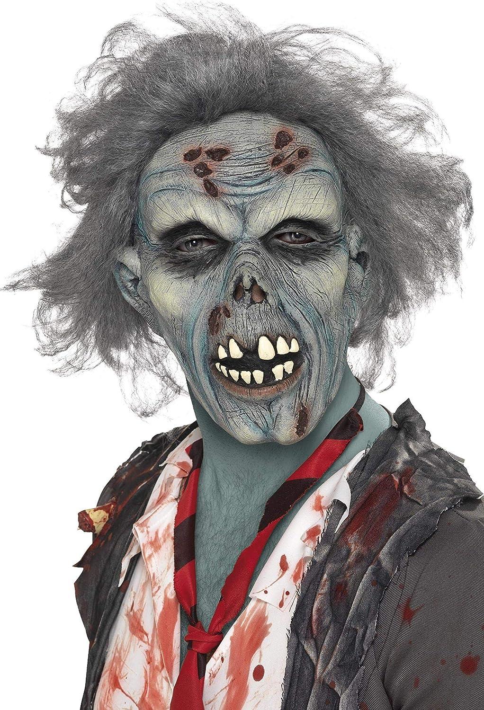 Máscara de Zombie con Cabellos Adulto: Smiffys: Amazon.es: Juguetes y juegos