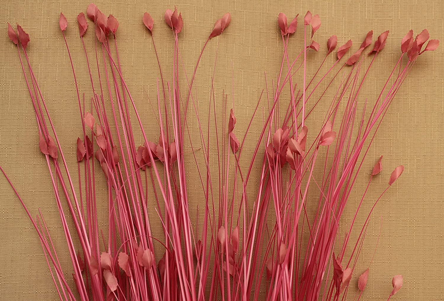 DECORATIVE GRASSES LEAF TIPPED 80CM BRIGHT PINK 6 STEMS SIMPLY GIFTS ARTIFICIAL PLASTIC