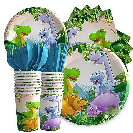 Amazon.com: Istrion Dinosaurio suministros de fiesta de ...