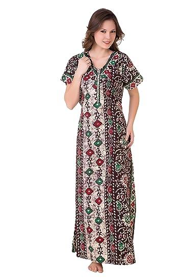 4bddf98b7f Masha Women s Cotton Nighty NT52-179  Amazon.in  Clothing   Accessories
