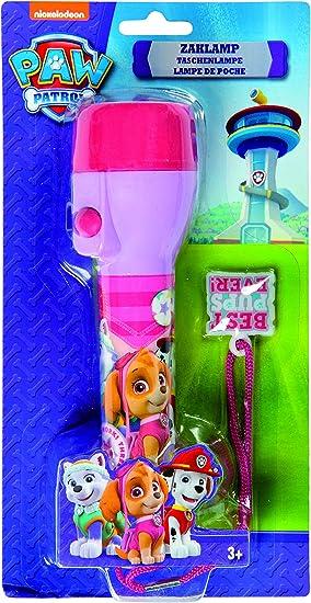 Pat patrulla linterna rosa para niña con LED y Correa: Amazon.es ...