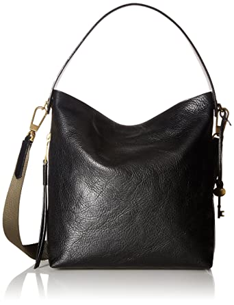 61bdad2e272 Amazon.com  Fossil Maya Small HOBO Handbag, Black  Fossil  Clothing
