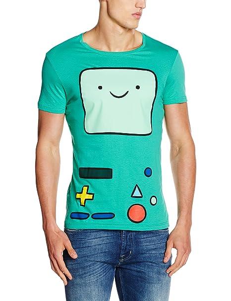 Adventure Time The Beemo, Camiseta para Hombre, Verde Green, Medium