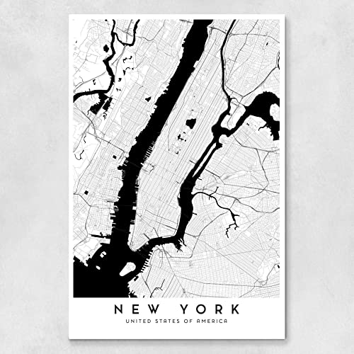 Amazon com: New York City Map - 24 x 36 in: Handmade