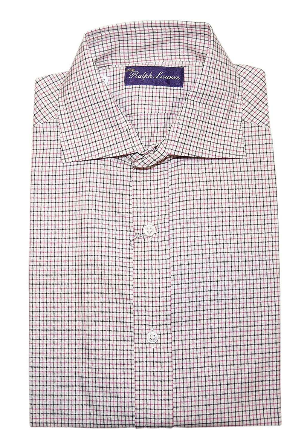 6e319e21 Ralph Lauren Polo Purple Label Mens White Pink Black Plaid Dress ...