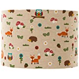 """Woodland Freinds Lampshade / Ceiling Light 8"""""""
