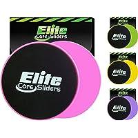 Elite Core Sliders les abdominaux - 2 Disques de grande qualité pour jambes et entraînement abdominal - double face pour une utilisation sur de la moquette ou du parquet - Très efficace pour le tronc pour la force