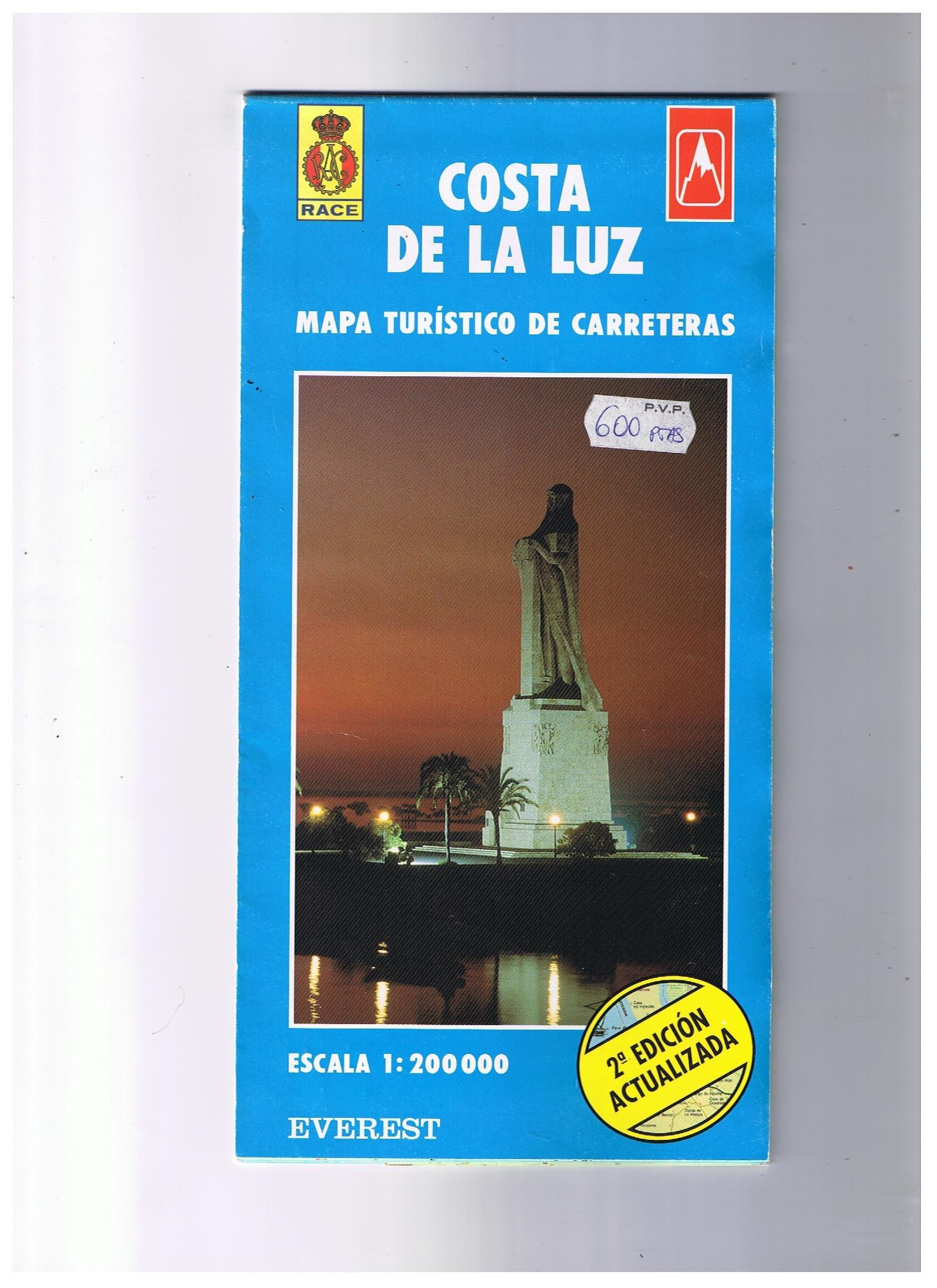 Mapa turístico de la Costa de la Luz: Mapa turístico de carreteras Mapas de Costas de España / serie azul: Amazon.es: Cartografía Everest: Libros