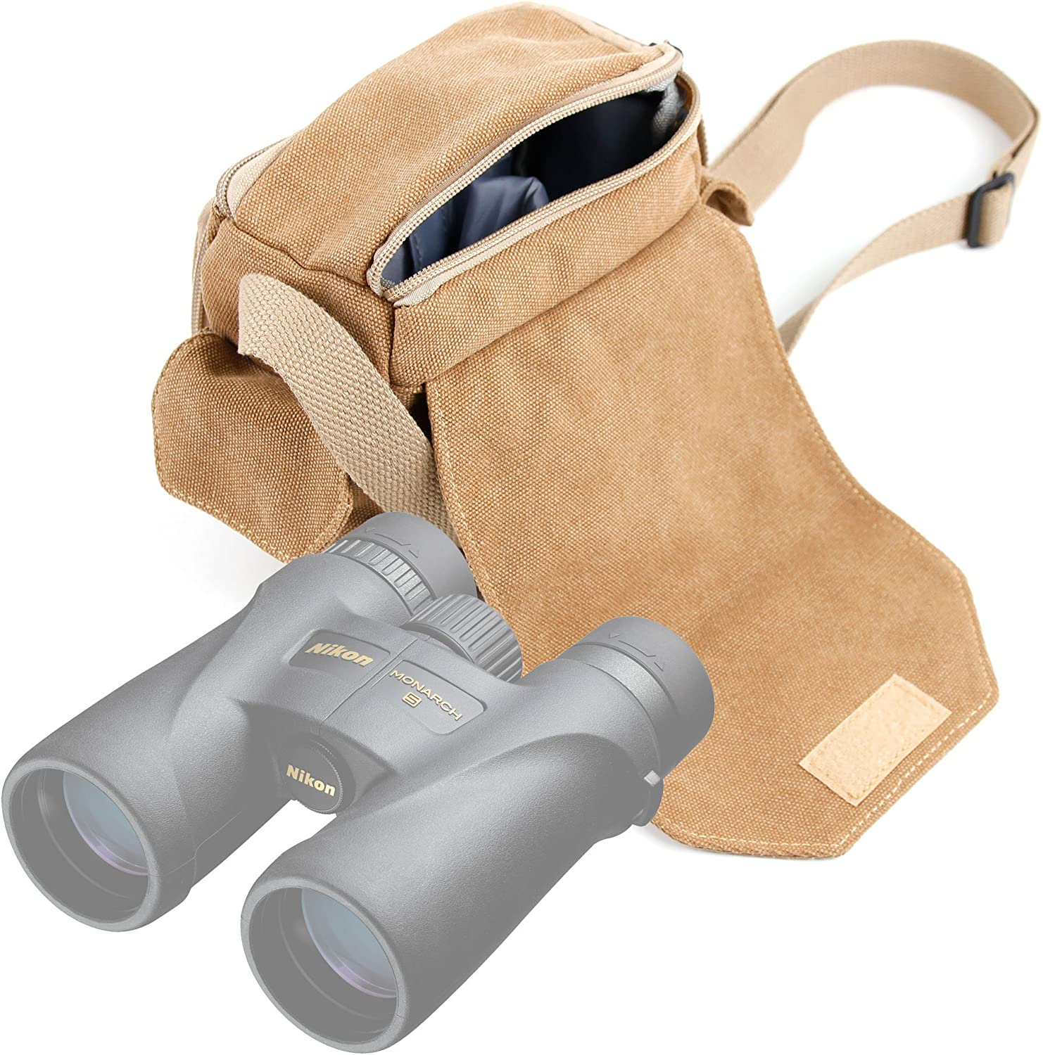 DURAGADGET Portable Carry Case w//Padded Interior /& Shoulder Strap Compatible with QUNSE 8X42 HD Binoculars /& X21 8X32 Binoculars