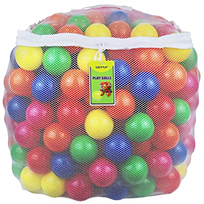 Click N' Play Pack of 100 Phthalate Free BPA Free Crush Proof Plastic Ball, Pit Balls - 6 Bright Colors in Reusable and Durable Storage Mesh Bag with Zipper: Toys & Games
