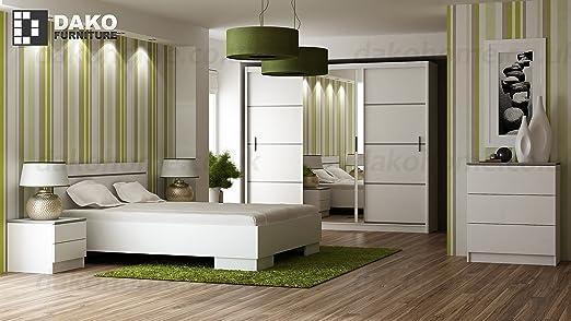 Dormitorio colección con puerta corredera armario con espejo 150 ...