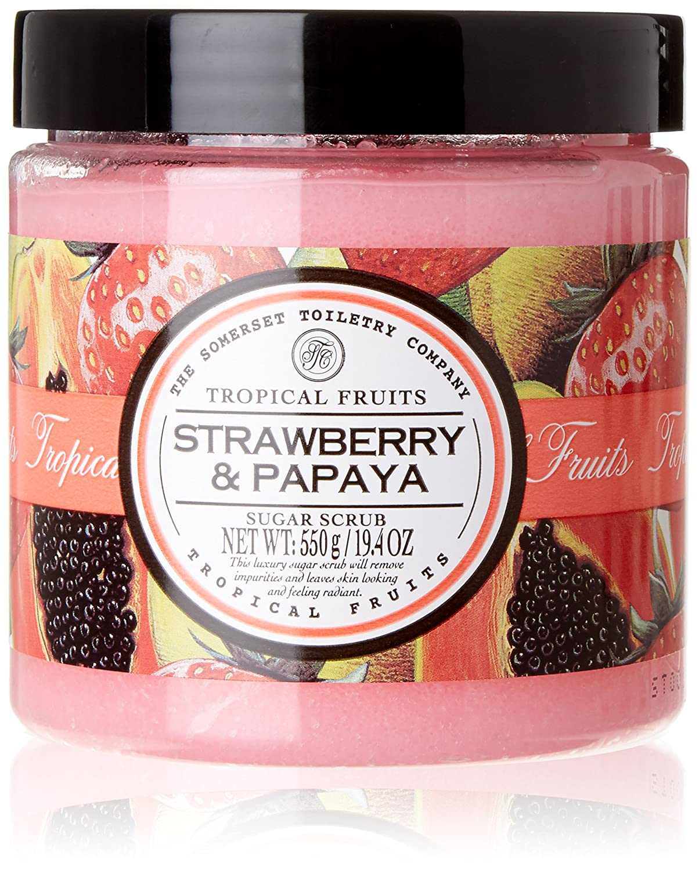 Tropical Fruits Strawberry and Papaya Sugar Scrub 500 g The Somerset Toiletry Company 92332