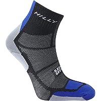 Hilly Men's Twin Skin Anklet Running Socks-Black/Electric Blue/Grey, Large