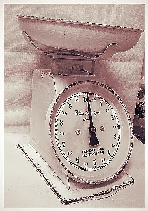 Báscula analógica para cocina estilo Shabby Chic Retro Vintage ...