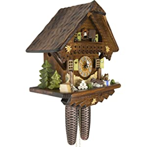 German Cuckoo Clock - Summer Meadow Chalet - BY CUCKOO-PALACE with 8-day