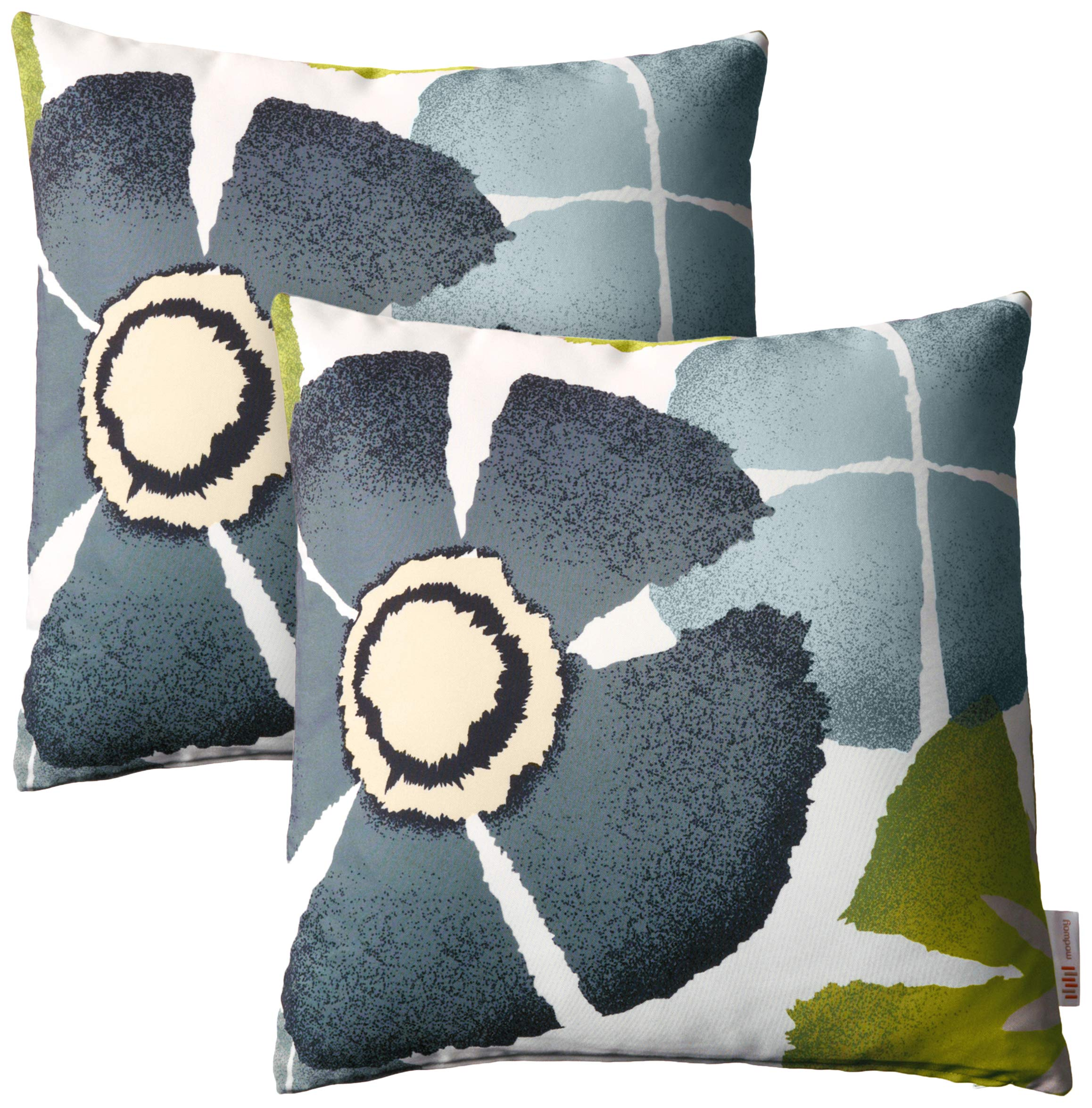 Modway Outdoor Indoor Two All Weather Patio Throw Pillows in Botanical by Modway