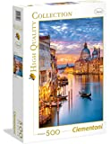 Clementoni - 35056 - High Quality Collection Puzzle - Lighting Venice - 500 Pezzi