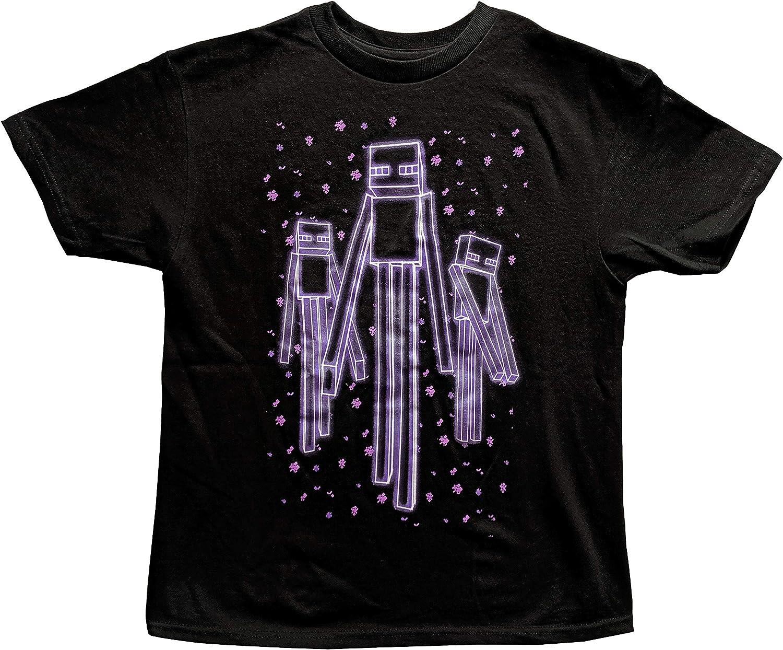 Minecraft Boys Enderman Glow in The Dark T Shirt