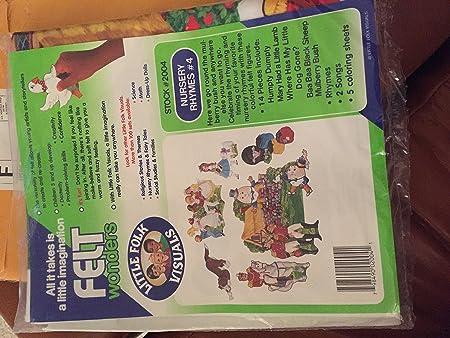 Amazon Nursery Rhymes 4 Flannel Board Kit 5 Humpty Dumpty Mulberry Bush Marys Little Lamb Dog Gone BAA Black Sheep Toys Games