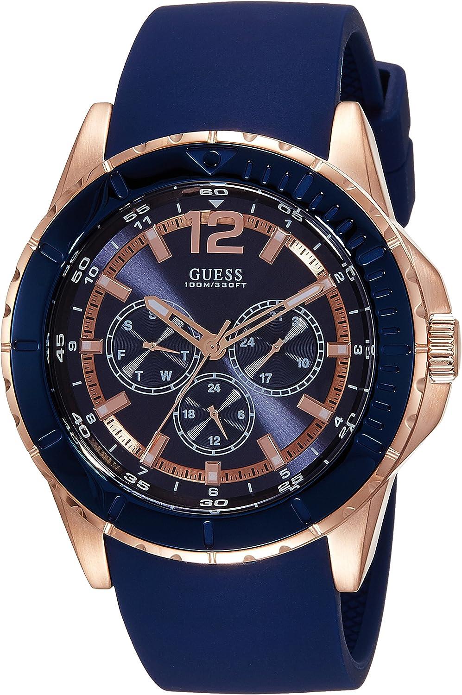 Guess Reloj analogico para Hombre de Cuarzo con Correa en Piel W0673G1