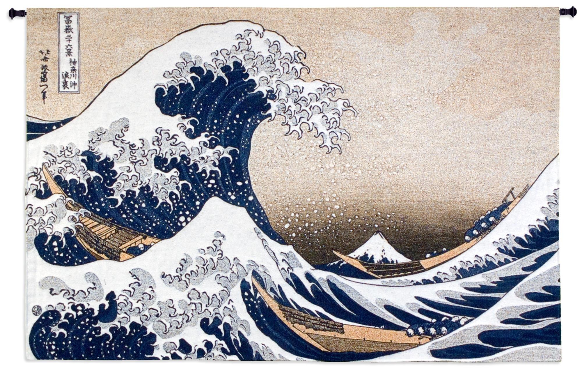 Fine Art Tapestries ''Great Wave at Kanagawa'' Wall Tapestry