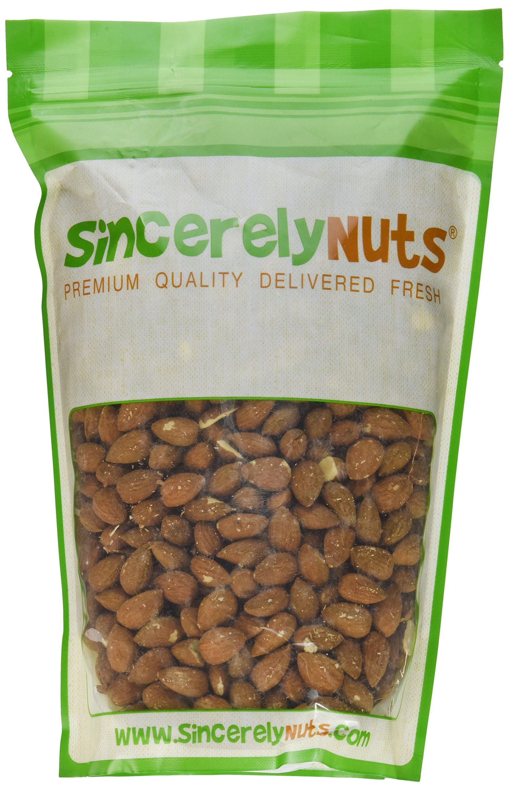 Sincerely Nuts - Natural Whole Raw Almonds Unsalted No Shell | 2 Lb. Bag | Low Calorie, Low Sodium, Kosher, Vegan, Gluten Free | Gourmet Kosher Snack Food | Source of Fiber, Protein, Nutrients by Sincerely Nuts (Image #2)
