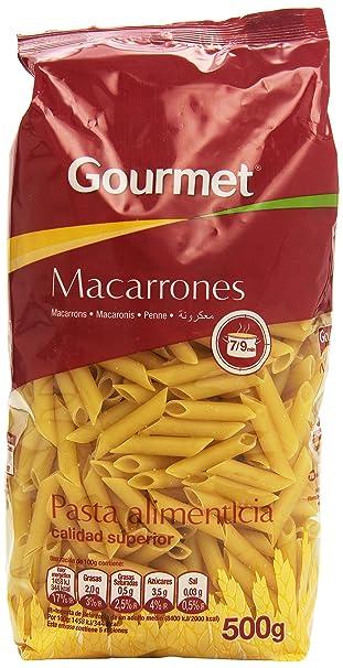 Gourmet - Macarrones - Pasta alimenticia - 500 g