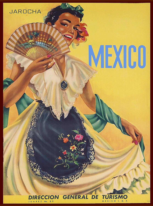 Amazon.com: Mexico Jarocha Direccion General de Turismo Senorita ...