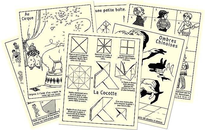 12 activités variées -ombres chinoises, cocottes en papier, fabriquer des jouets...