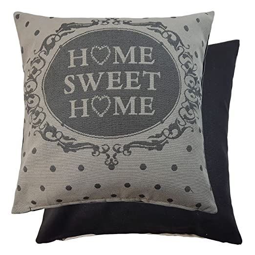 Woven Tapestry Home Sweet Home funda para cojín de lunares ...