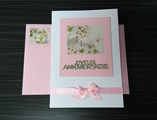 Petite Carte Anniversaire Fleur Amazon Fr Handmade